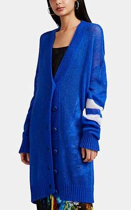 Maison Margiela Women's Fine-Gauge Knit Oversized Cardigan - Blue