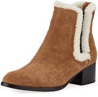 Walker Fur-Trim Suede Boots