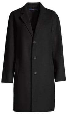 Polo Ralph Lauren Women's Wool Trench Coat - Black - Size Small