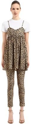 Leopard Printed Dress & T-Shirt