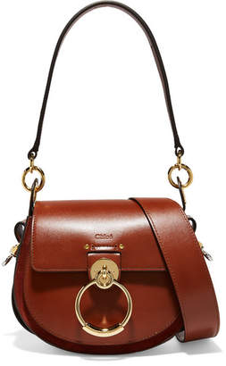 Chloé Tess Leather And Suede Shoulder Bag - Brown