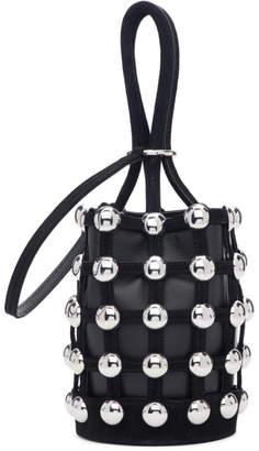 Alexander Wang Black Suede Mini Roxy Cage Bucket Bag
