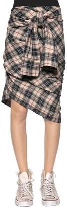 Faith Connexion Check Plaid Heavy Gauze Shirt Skirt
