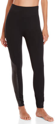 Sara Blakely Spanx By Perforated Faux Leather Panel Shape Leggings