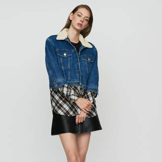 Maje Denim trompe-l'oeil jacket