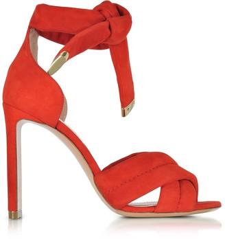 Nicholas Kirkwood Ziggy Coral Red Suede Sandal