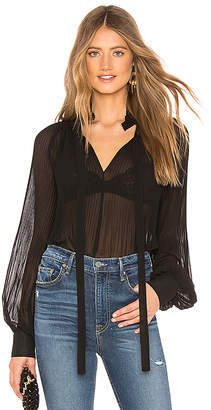 Endless Rose Front Tie Pleated Blouse