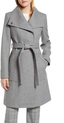 Halogen Belted Wool Blend Coat