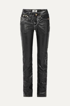 Eytys Cypress High-rise Coated Slim-leg Jeans - Black