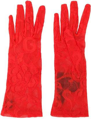 Gucci floral lace gloves