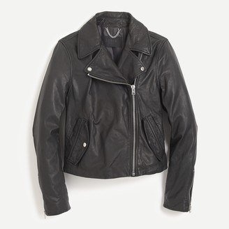 Icons Collection washed leather motorcycle jacket