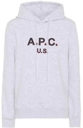 A.P.C. U.S. cotton fleece hoodie