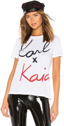 Karl Lagerfeld X KAIA Signature Tee