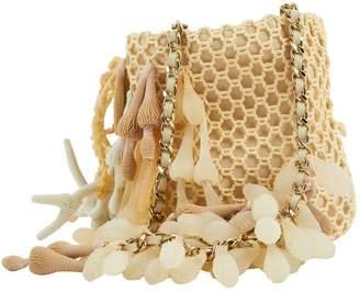 Chanel Ecru Cloth Clutch Bag