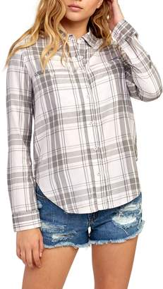 RVCA Boarding Now Plaid Top
