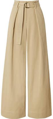 Ulla Johnson Rhodes Tencel And Cotton-blend Twill Wide-leg Pants - Beige