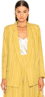Atoir Always Ascending Blazer in Golden Olive & White Stripe | FWRD