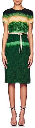 Altuzarra Women's Tie-Dyed Silk Midi-Dress - Ceramic Green