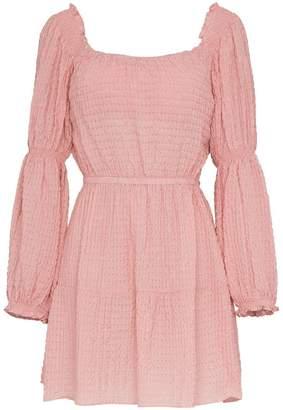 Cult Gaia Malia smocked gingham peasant dress