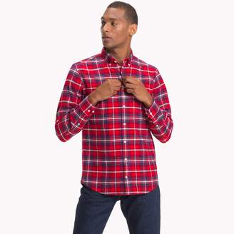 Tommy Hilfiger Brushed Cotton Flannel Plaid Shirt
