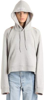 Vetements Logo Printed Hooded Cotton Sweatshirt
