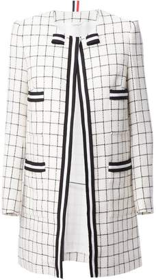 Thom Browne checked coat