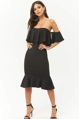 Forever 21 Off-the-Shoulder Ruffle Dress