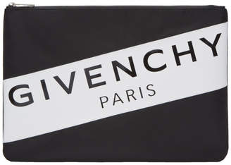 Givenchy Black Nylon Logo Band Pouch