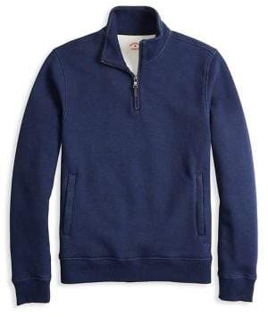 Brooks Brothers Red Fleece Pique Fleece Half-Zip Sweater