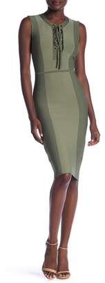 BCBGMAXAZRIA Safari Knit Bodycon Dress