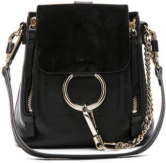 Chloé Mini Faye Suede & Calfskin Backpack