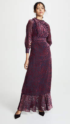 Cynthia Rowley Velvet Heart Maxi Dress with Tuxedo Front