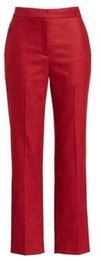 Rag & Bone Rag& Bone Rag& Bone Women's Poppy Wool Cropped Trousers - Red Melange - Size 0