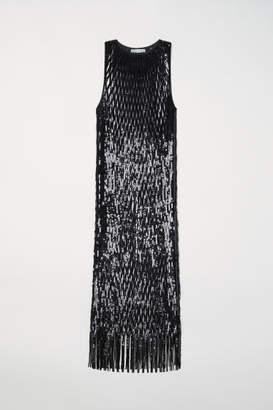 H&M Sequined Mesh Dress - Black