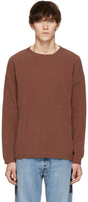 Our Legacy Pink Chenille Popover Sweater