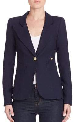 Smythe Women's Duchess Wool Blazer - Slate - Size 12