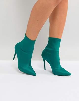 Aldo Cirelle Pull On Sock Boot in Emerald Green