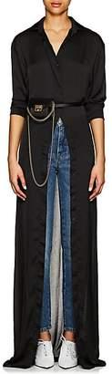 Juan Carlos Obando Women's Washed Satin Long Shirtdress - Black