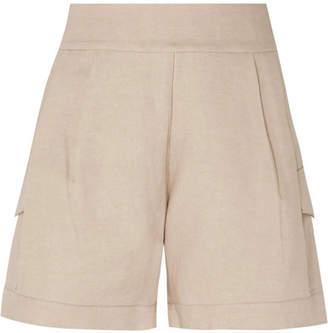 BEIGE MATIN - Linen Shorts