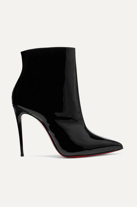 Christian Louboutin So Kate Booty 100 Patent-leather Ankle Boots - Black