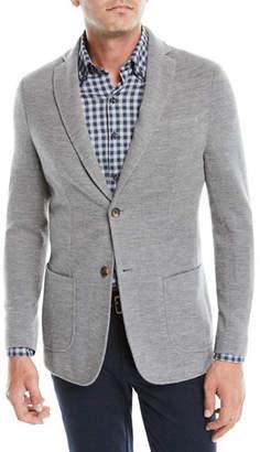 Peter Millar Crown Cashmere Knit Two-Button Blazer