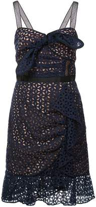 Self-Portrait petal broderie anglaise dress