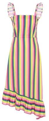 Staud Valentina striped poplin dress