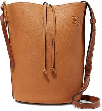 Loewe Gate Textured-leather Bucket Bag - Tan