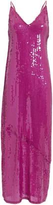Fleur Du Mal Sequin Slip Midi Dress