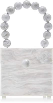 Cult Gaia Eos Marbled Acrylic Box Bag