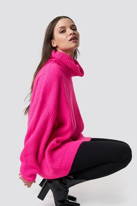 Na Kd Trend Neon Oversized Sweater Neon Yellow