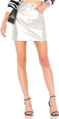 Rag & Bone Moss Leather Skirt