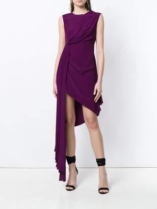 Off-White draped asymmetric dress