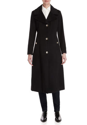 Karl Lagerfeld Paris Wool Longline Overcoat
